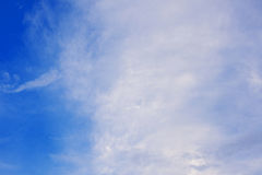 Blue sky. Big sky with clouds Royalty Free Stock Photo