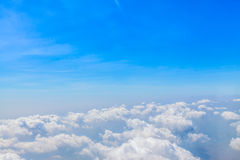 Blue sky and big clouds abstract Stock Photography