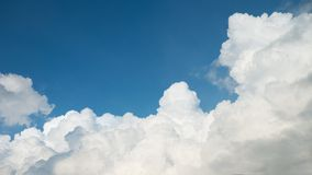 Blue Sky with Big Clouds Royalty Free Stock Photos