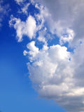 Blue sky with big clouds Royalty Free Stock Image