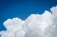 Blue sky and big white cloud Stock Photo