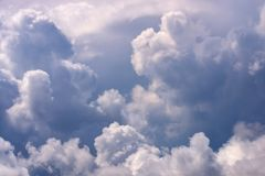 Dramatic sky and white clouds royalty free stock photos