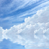 Blue sky and blue sea Royalty Free Stock Images