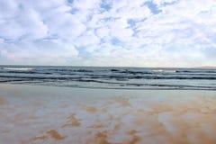 Blue sky blue sea gold sand Royalty Free Stock Photos