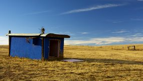 Blue sky. Blue storage Stock Photography