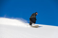 Blue sky boarding Stock Photography