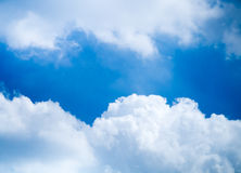 Blue sky bright cloudy day Royalty Free Stock Photos