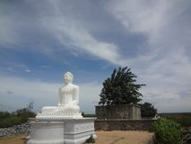 Blue sky and buddha Stock Image