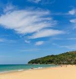 Blue sky and calm sea on Naithon Noi beach in Phuket Thailand Stock Photos