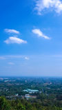 Blue sky and Chiang mai building view. Stock Photography