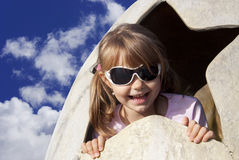 Blue sky and child Royalty Free Stock Photo