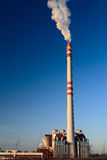Blue sky an chimney. Blue sky chimney environment in danger smoke exhaust ecology industrial climate pollution Royalty Free Stock Photos