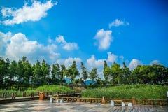 Blue sky. In China, Suzhou, Jiangsu Royalty Free Stock Images