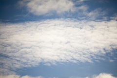 Blue sky and cirris clouds Royalty Free Stock Photos