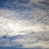 Blue sky and cirris clouds as background Stock Photo