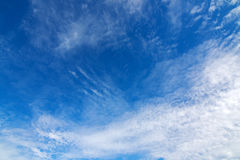 Blue sky with Cirrocumulus high level Clouds formation Stock Images
