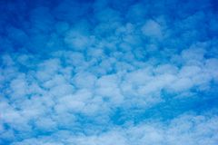 Sky with cirrus clouds. Blue sky with cirrus clouds stock photography
