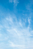 Blue sky with  cirrus clouds Stock Images