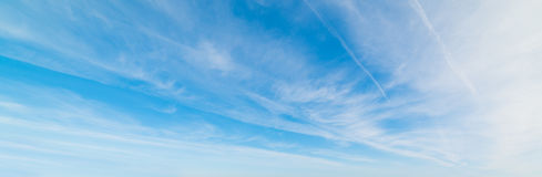 Blue sky with cirrus clouds Royalty Free Stock Image