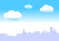 Blue sky city Stock Photo