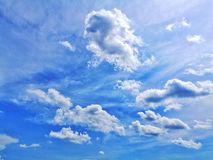 Blue Sky. Clear Sky & Cloud Royalty Free Stock Photo