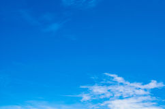 Blue sky. Clear sky with a little cloud Stock Photo