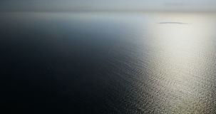 Blue sky and clear ocean stock footage