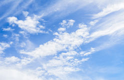 Blue sky in the clear sky day image background. Royalty Free Stock Photo