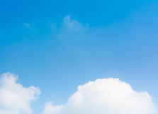 blue sky in the clear sky day image background. Stock Photos
