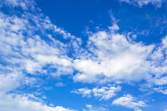 Blue sky. Closeup blue sky and fluffy clouds Stock Images