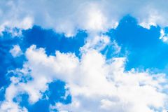 Blue sky with cloud stock photo