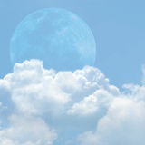 Blue sky and cloud. On summer Stock Images