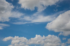 Blue sky. The blue sky with cloud Royalty Free Stock Photo
