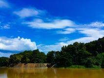 Blue sky. Cloud stock photo
