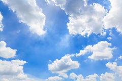 Blue sky with cloud Stock Photos