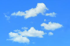 Blue sky and cloud as background texture in horizontal frame Royalty Free Stock Photography