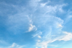 Blue sky and cloud background Royalty Free Stock Photos