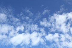 Blue sky with cloud. Background Royalty Free Stock Image