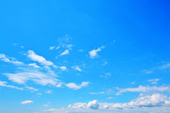 Blue sky with cloud. Background stock photo