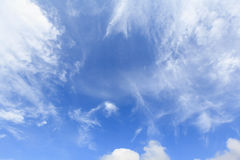 Blue sky with cloud background Royalty Free Stock Images