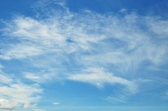 Blue sky and cloud background Stock Photography