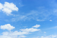 Blue sky with cloud. For background design Stock Images