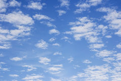 Blue sky with cloud background Royalty Free Stock Photo