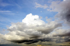 Blue sky and cloud background Stock Image