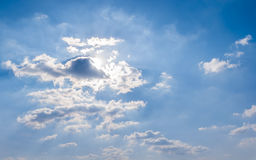 Blue sky cloud background Stock Photography