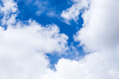 Blue Sky with Cloud Background/ Texture Royalty Free Stock Photo
