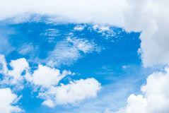 Blue Sky with Cloud Background/ Texture Stock Photography
