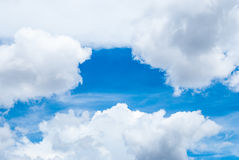 Blue Sky with Cloud Background/ Texture Royalty Free Stock Image