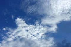 Blue sky with cloud background. Ultramarine vast beautiful nature. Blue sky with cloud background. Ultramarine blue sky vast  and Soft Cloud white. and motion Stock Photos