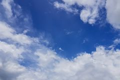 Blue sky with cloud. On summer Stock Photography